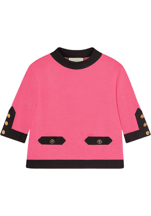 Gucci Silk contrast top - Pink
