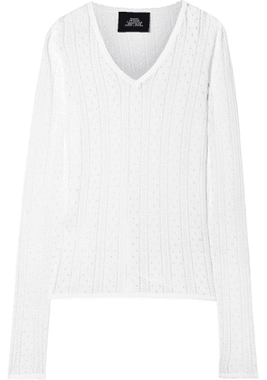 Marc Jacobs - Pointelle-knit Top - White