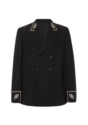 Burberry Embroidered Wool Double-Breasted Jacket