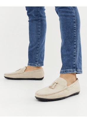 Brave Soul tassel loafers in stone