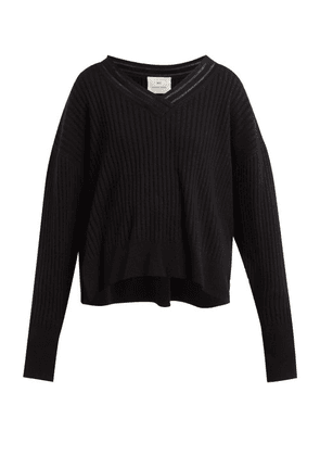 By. Bonnie Young - V Neck Cashmere Blend Sweater - Womens - Black