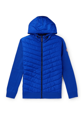 Canada Goose - Hybridge Slim-fit Merino Wool And Quilted Nylon Hooded Down Jacket - Blue