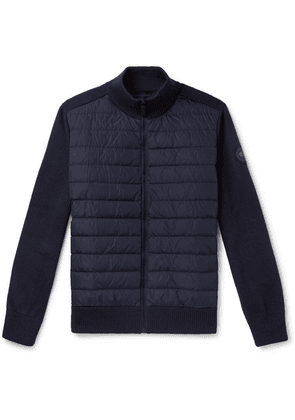 Canada Goose - Hybridge Slim-fit Merino Wool And Quilted Nylon Down Jacket - Navy