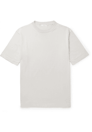 The Row - Roger Silk And Cotton-blend T-shirt - Gray