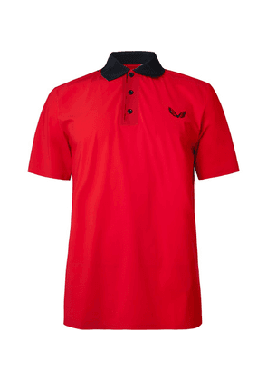 CASTORE - Young Stretch-jersey Polo Shirt - Red