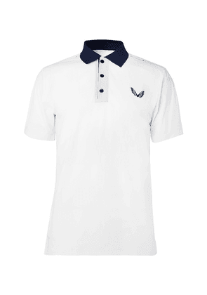 CASTORE - Young Stretch-jersey Polo Shirt - White