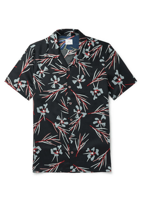 PS by Paul Smith - Camp-collar Floral-print Lyocell Shirt - Black