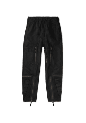Cav Empt - Black Yossarian Tapered Cotton-twill Cargo Trousers - Black