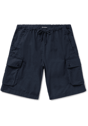 Arpenteur - Marina Cotton-twill Drawstring Cargo Shorts - Midnight blue