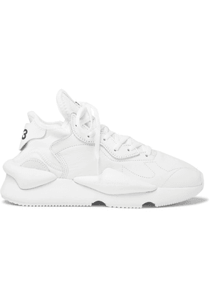 Y-3 - Kaiwa Suede-trimmed Leather And Neoprene Sneakers - White