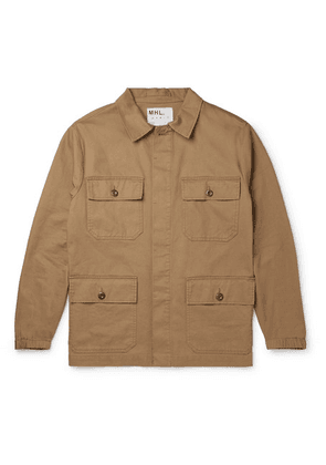 Margaret Howell - Mhl Engineers Cotton And Linen-blend Twill Field Jacket - Sand