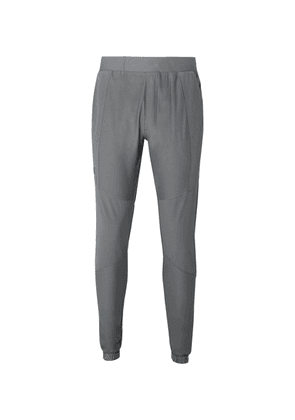 Under Armour - Vanish Hybrid Tapered Panelled Stretch-jersey Sweatpants - Gray