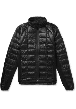 Canada Goose - Hybridge Slim-fit Packable Quilted Shell And Stretch-jersey Down Jacket - Black