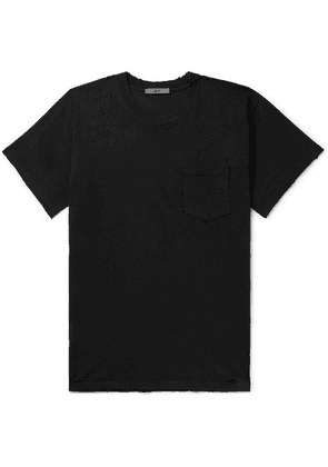 BILLY - Deacon Distressed Cotton-jersey T-shirt - Black