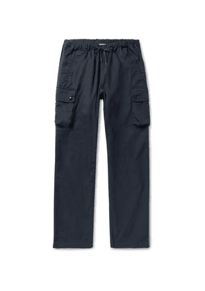 Arpenteur - Navy Cotton-twill Drawstring Cargo Trousers - Navy