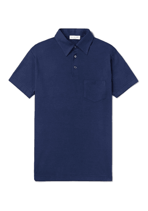 Richard James - Slim-fit Cotton And Lyocell-blend Jersey Polo Shirt - Blue