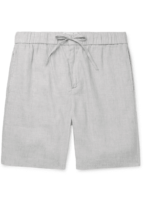 Frescobol Carioca - Mélange Linen And Cotton-blend Shorts - Gray