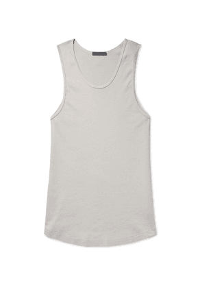BILLY - Colton Ribbed Cotton-jersey Tank Top - Gray