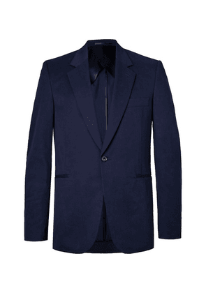 The Row - Navy Michel Slim-fit Cotton And Cashmere-blend Blazer - Navy