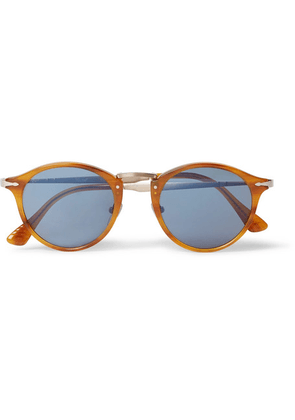 Persol - Round-frame Tortoiseshell Acetate And Gold-tone Sunglasses - Brown
