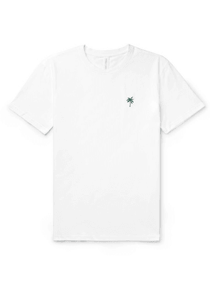 Desmond & Dempsey - Embroidered Cotton-jersey Pyjama T-shirt - White