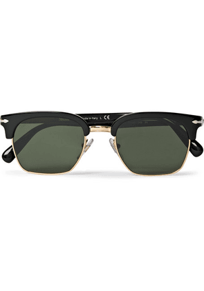 Persol - D-frame Acetate And Gold-tone Sunglasses - Black