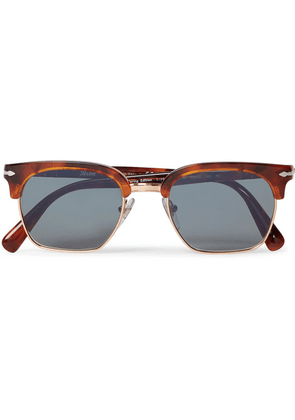 Persol - D-frame Tortoiseshell Acetate And Gold-tone Sunglasses - Brown