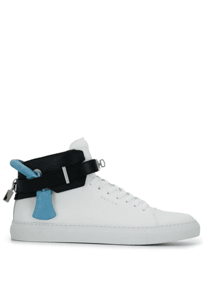 Buscemi lock detail lace-up trainers - White