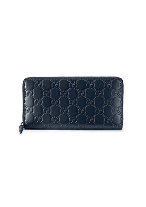 Gucci Gucci Signature zip around wallet - Blue