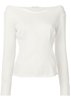 Marni fitted jersey top - Neutrals