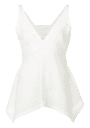 Dorothee Schumacher v-neck peplum top - White