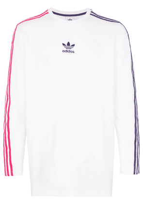 Adidas sportivo contrast stripe long sleeve t-shirt - White