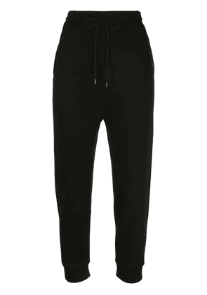 R13 cropped track pants - Black