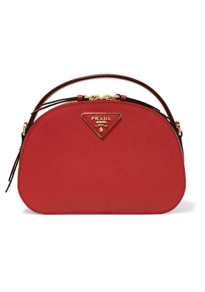 Prada - Brique Leather Shoulder Bag - Red