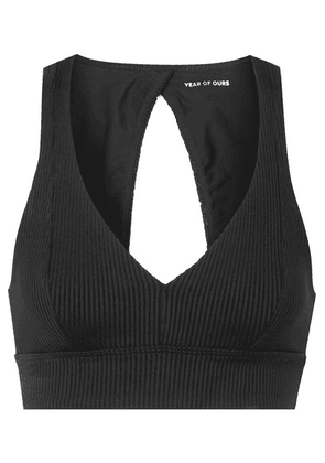 Year of Ours - Veronica Ribbed Stretch Sports Bra - Black