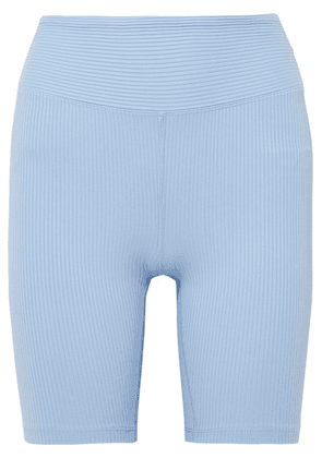 Year of Ours - Biker Ribbed Stretch Shorts - Light blue