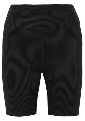 Year of Ours - Biker Ribbed Stretch Shorts - Black