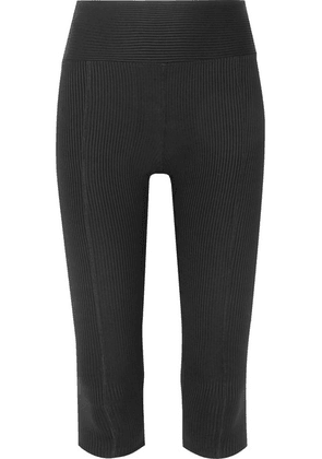 Year of Ours - Reformer Cropped Ribbed Stretch Leggings - Black