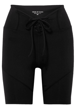 Year of Ours - Hockey Lace-up Stretch Shorts - Black