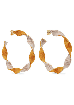 Rebecca de Ravenel - Penelope Cord Hoop Earrings - Pink