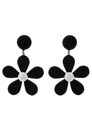 Rebecca de Ravenel - Daisy Cord Clip Earrings - Black