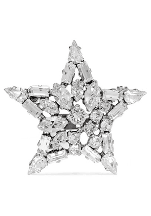 Saint Laurent - Silver-tone Crystal Brooch - one size