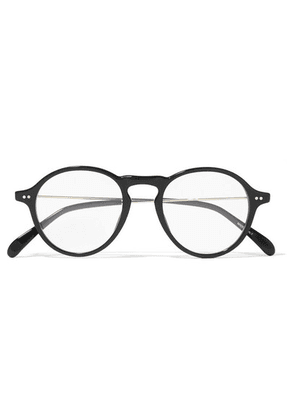 Givenchy - Round-frame Gold-tone And Acetate Optical Glasses - Black