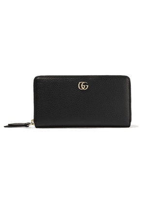 Gucci - Marmont Petite Textured-leather Wallet - Black