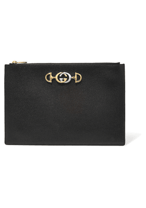 Gucci - Zumi Embellished Leather Pouch - Black
