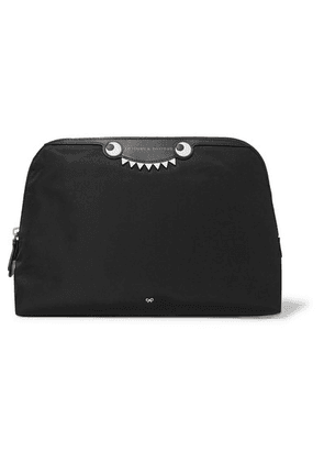Anya Hindmarch - Monster Printed Leather-trimmed Shell Cosmetics Case - Black