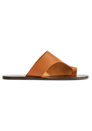 ATP Atelier - Rosa Cutout Leather Sandals - Tan
