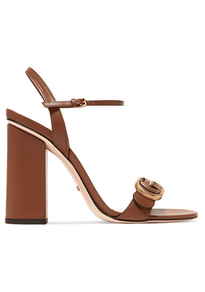 Gucci - Marmont Logo-embellished Leather Sandals - Tan