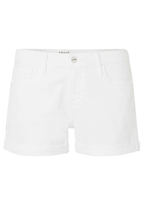 FRAME - Le Cutoff Denim Shorts - White
