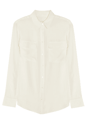Equipment - Signature Washed-silk Shirt - Off-white
